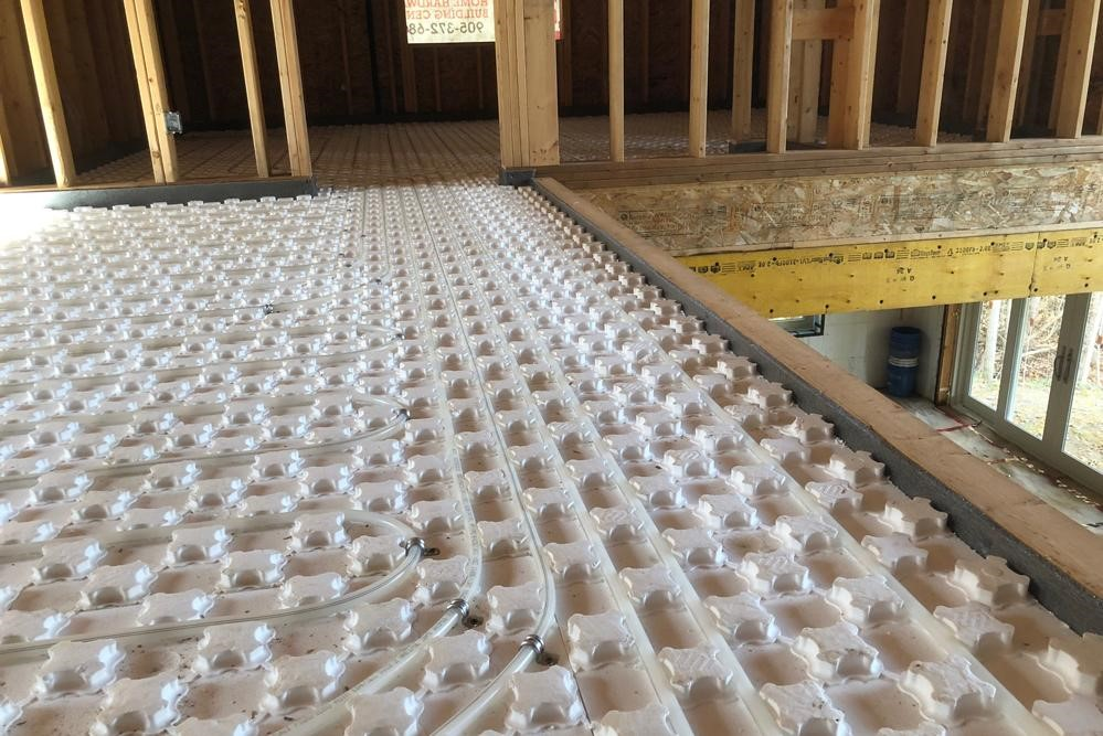 Heat Sheet radiant flooring system installed at a job site