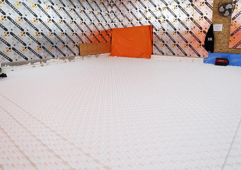 Heat-Sheet on Basement Slab