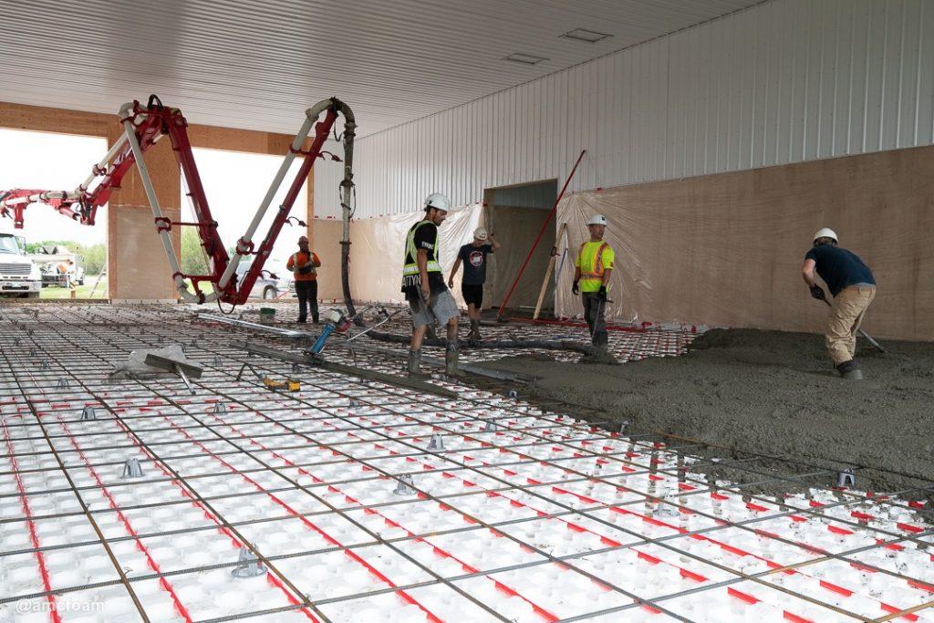 Heat-Sheet Installation During Concrete Pour